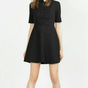 Black high neck ruffle dress from Zara (small)